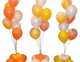 Как сделать фонтан из воздушных шаров своими руками фото