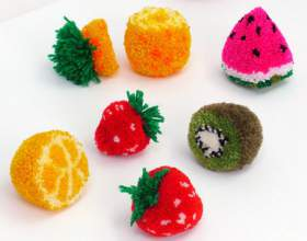 Как сделать фруктовые помпоны фото