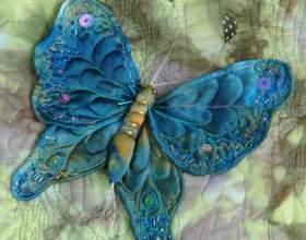 Как сделать из ткани бабочку фото