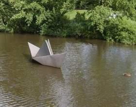 Как сделать кораблик из листа бумаги фото