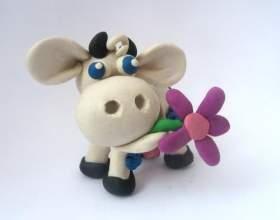 Как сделать корову из пластилина фото