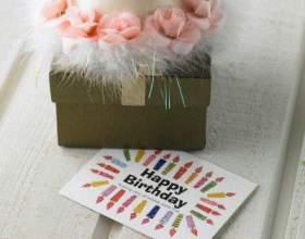 Как сделать красивую открытку на день рождения фото