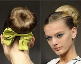 Как сделать красивую шишку из волос на голове фото