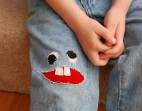 Как сделать красивую вышивку на штанине для ребёнка фото
