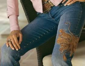 Как сделать красивые джинсы фото