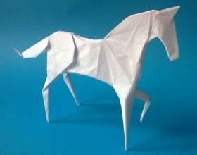 Как сделать лошадь оригами фото