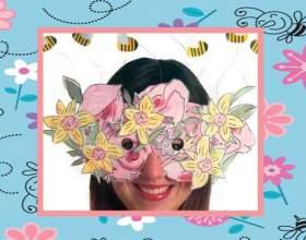 Как сделать маску из цветов с пчелами фото