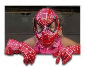 Как сделать маску паука фото