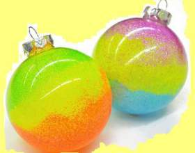 Как сделать новогодние неоновые шарики на елку фото
