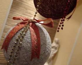 Как сделать новогодние шары фото