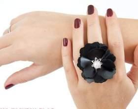 Как сделать перстень-цветок из кожи фото