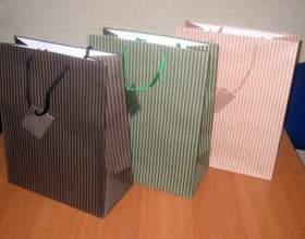Как сделать подарочный пакет фото