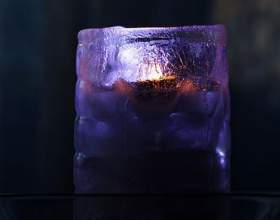 Как сделать подсвечник из льда фото