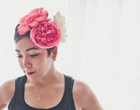 Как сделать повязку с цветами фото