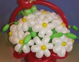 Как сделать ромашку из шаров для моделирования фото