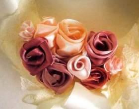Как сделать розу из шелковой ткани фото