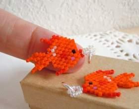 Как сделать рыбку из бисера фото