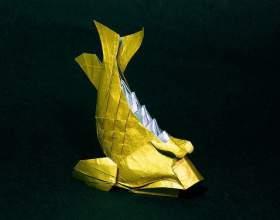 Как сделать рыбку оригами фото