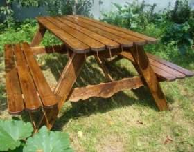 Как сделать садовую мебель фото