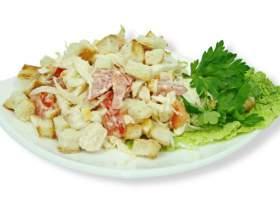 Как сделать салат с сухариками и фасолью фото