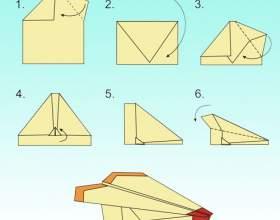 Как сделать самолётики оригами фото