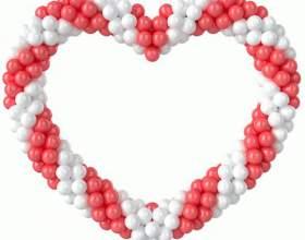 Как сделать сердце из шаров своими руками фото