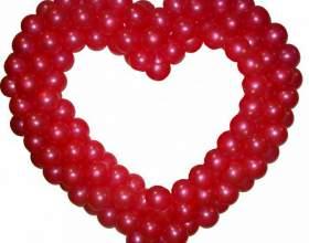 Как сделать сердце из шаров фото