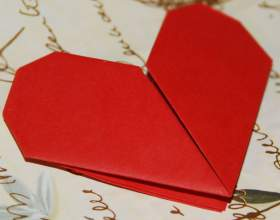 Как сделать сердце в оригами фото