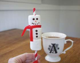 Как сделать сладкого снеговика на десерт фото