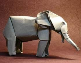 Как сделать слона из бумаги фото