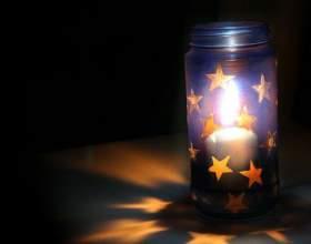 Как сделать светящуюся банку со звёздами фото