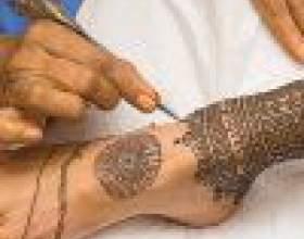 Как сделать временную татуировку хной в домашних условиях фото