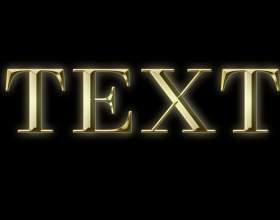 Как сделать золотой шрифт фото