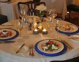Как сервировать стол к обеду фото