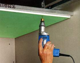 Как смонтировать потолок из гипсокартона фото