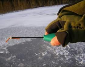 Как снарядить зимнюю удочку фото