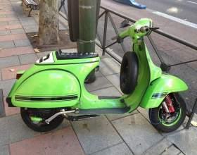Как снять заднее колесо скутера фото