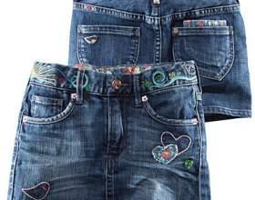 Как сшить из джинсов юбку фото