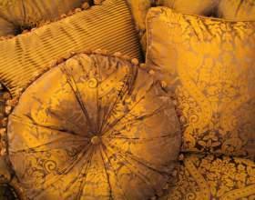 Как сшить круглую подушку фото