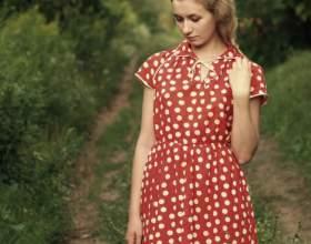 Как сшить платье в горошек фото