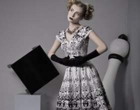 Как сшить платье в стиле 50-х фото