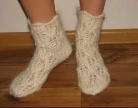 Как связать ажурные носки фото