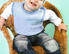 Как связать детский жилет фото