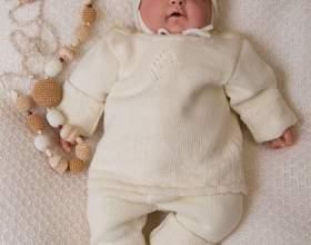 Как связать кофточку новорожденному фото