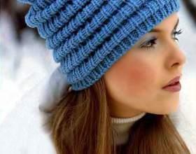 Как связать модную шапку фото