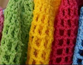Как связать модный шарф фото