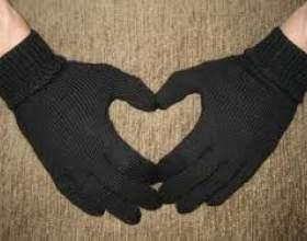 Как связать мужские перчатки фото
