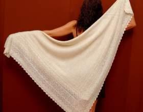 Как связать платок спицами фото