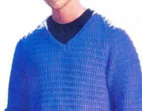 Как связать пуловер спицами фото