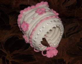 Как связать шапочку для новорожденного фото